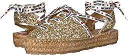 Glitter Espadrille with Laces