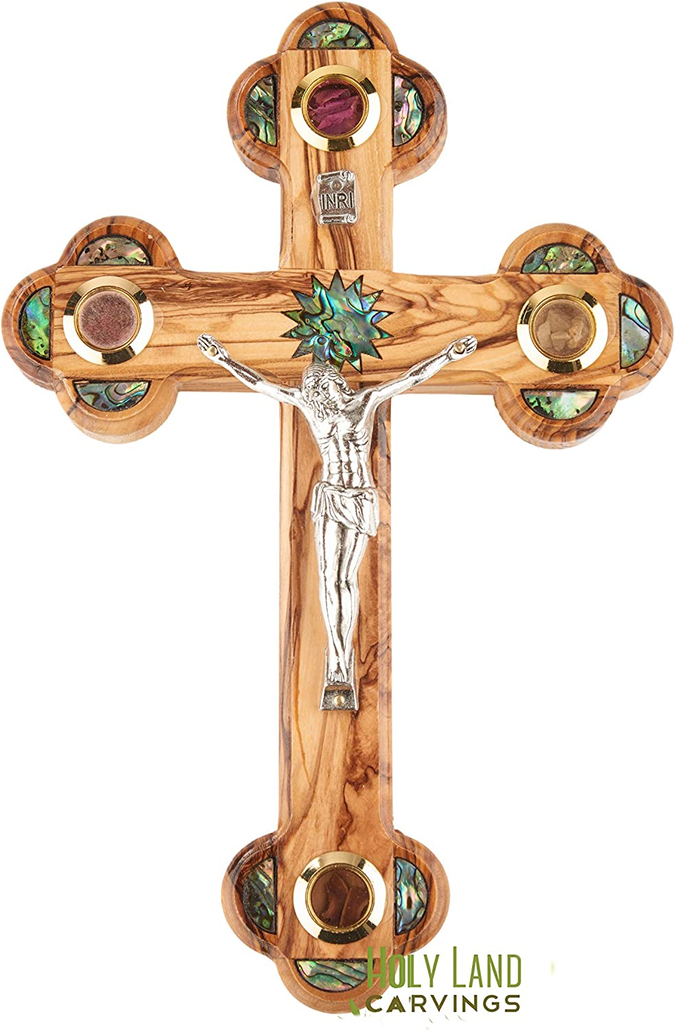 11 Inch Wall Catholic Crucifix Holy Ranking TOP14 for sold out Land Olive Cross Wood W