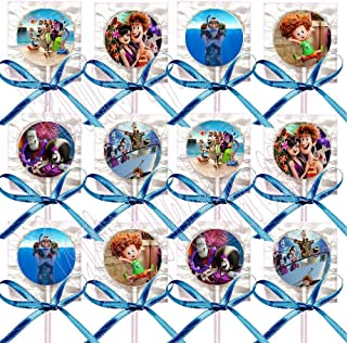 Hotel Transylvania 3 Lollipops Summer Vacation Party Favors Decorations Movie Lollipops w/ Blue Ribbon Bows Party Favors -12