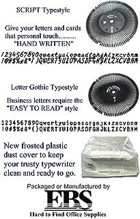 ONE(1) Standard Letter Gothic 12 Printwheel / ONE(1) Script 10/12 Printwheel / ONE(1) Dust Cover for Smith Corona