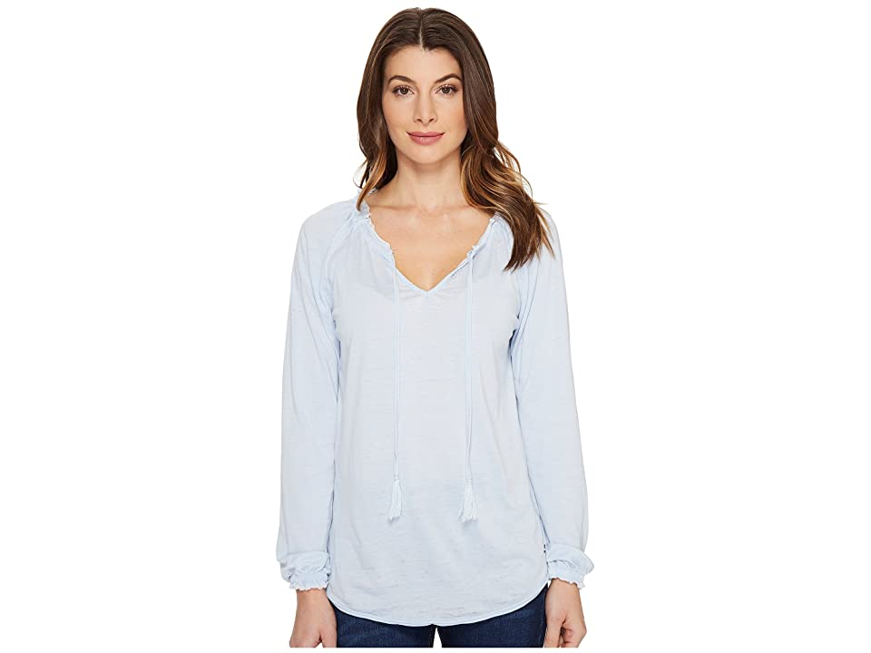 Jag Jeans Peasant Tee in Burnout Jersey (Bluebell) Women