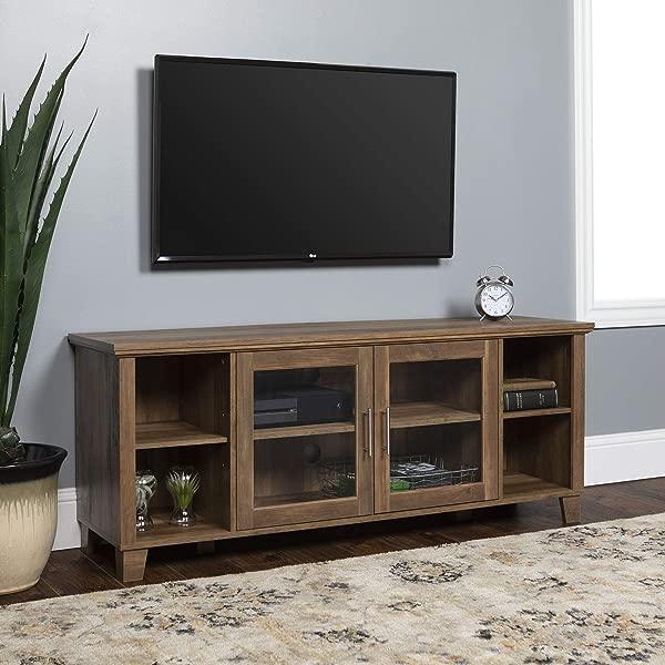 WE Furniture AZ58CO2DRO TV Stand 58 Rustic Oak