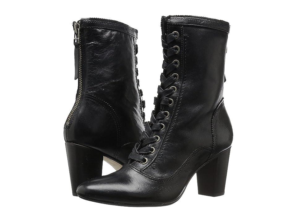 Johnston & Murphy Adaline Bootie (Black Italian Washed Leather) Women