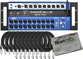 Soundcraft Ui24R Digital Mixer w/Cleaning Cloth and 10 Cables