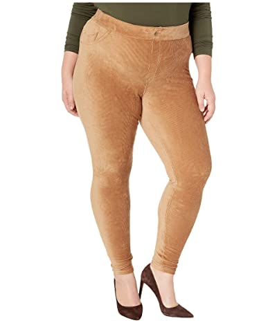 HUE Plus Size Corduroy Leggings (Camel) Women