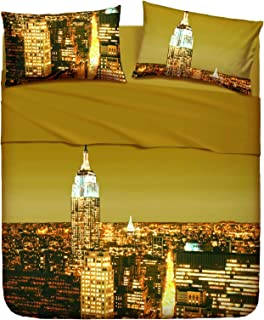 Copripiumino Matrimoniale Bassetti New York.Amazon It Copripiumino New York Bassetti Casa E Cucina