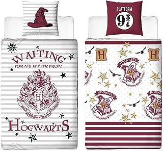 Character World Zestaw dwustronnej pościeli Harry Potter 135 x 200 cm 80 x 80 cm, 100% bawełna, linon, Hogwart, niemiecki ...