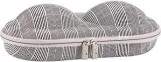 Premium Bra Case Lingerie Travel Bag Zip Underwear Organizer Bag for A-DD Cup (Swallow Gird)