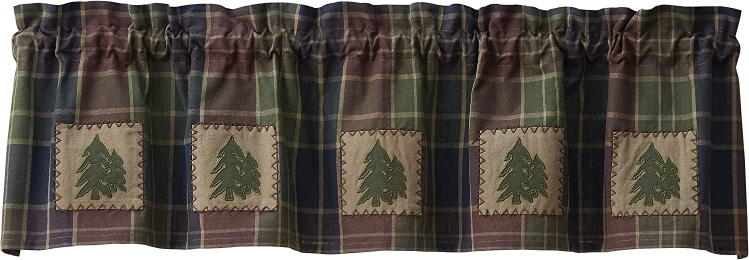 Park Designs Frontier Plaid Lined 激安セール Patch Valance 高級