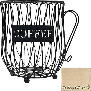 Soporte para caj/ón de almacenamiento de c/ápsulas de caf/é de hierro Soporte para c/ápsulas de caf/é para c/ápsulas Capacidad para 40 c/ápsulas