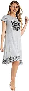 Pijamas Mujer, Camison Mujer Verano, Vestido Manga Corta, Ropa Mujer Algodon Suave, Merchandising Oficial Regalos Mujer y Chica Adolescente Talla S-XL
