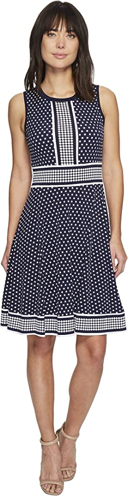 MICHAEL Michael Kors - Simple Dot Sleeveless Border Dress