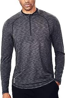 Men's Tech Quarter Zip Pullover Lightweight Running Top Dry Fit Zip T Shirt Men