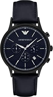 Emporio Armani Men's AR2481 Dress Black Leather Watch