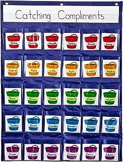 Positive Reinforcement Pocket Chart, Carson-Dellosa Education, Hanging Behavior Pocket Chart, Classroom Management Pocket Chart for Cell Phones, Calculators, 30 Pocket Organizer