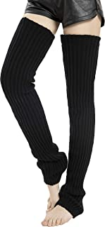 Leotruny Women's Winter Thick Knit Extra Long Thigh High Leg Warmers
