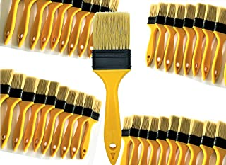 PANCLUB Chip Paint Brushes bulk 2 inch | Sturdy Bristles | 40 Pack of Paint Brush For Home Wall Trim House | 100% plastic | for Paint, Gesso, Glues,Varnishes,Stains, Acrylics and Completely Recyclable