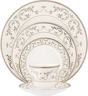 Lenox Opal Innocence Silver 5-Piece Place Setting, White -