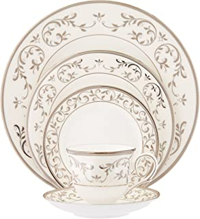 Lenox Opal Innocence Silver 5-Piece Place Setting, White - 834221
