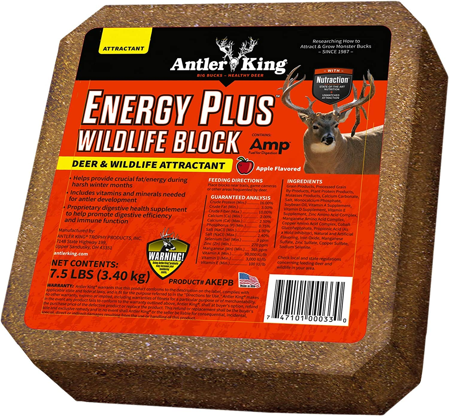 Antler King Energy Plus Pack Free shipping anywhere in the nation Import Block Wildlife