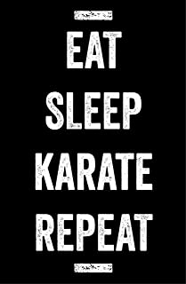 Damdekoli Eat Sleep Karate Poster, Martial Arts Artwork, 11 x 17 inches, Taekwondo, Gym, Motivational, Boys Girls Kids