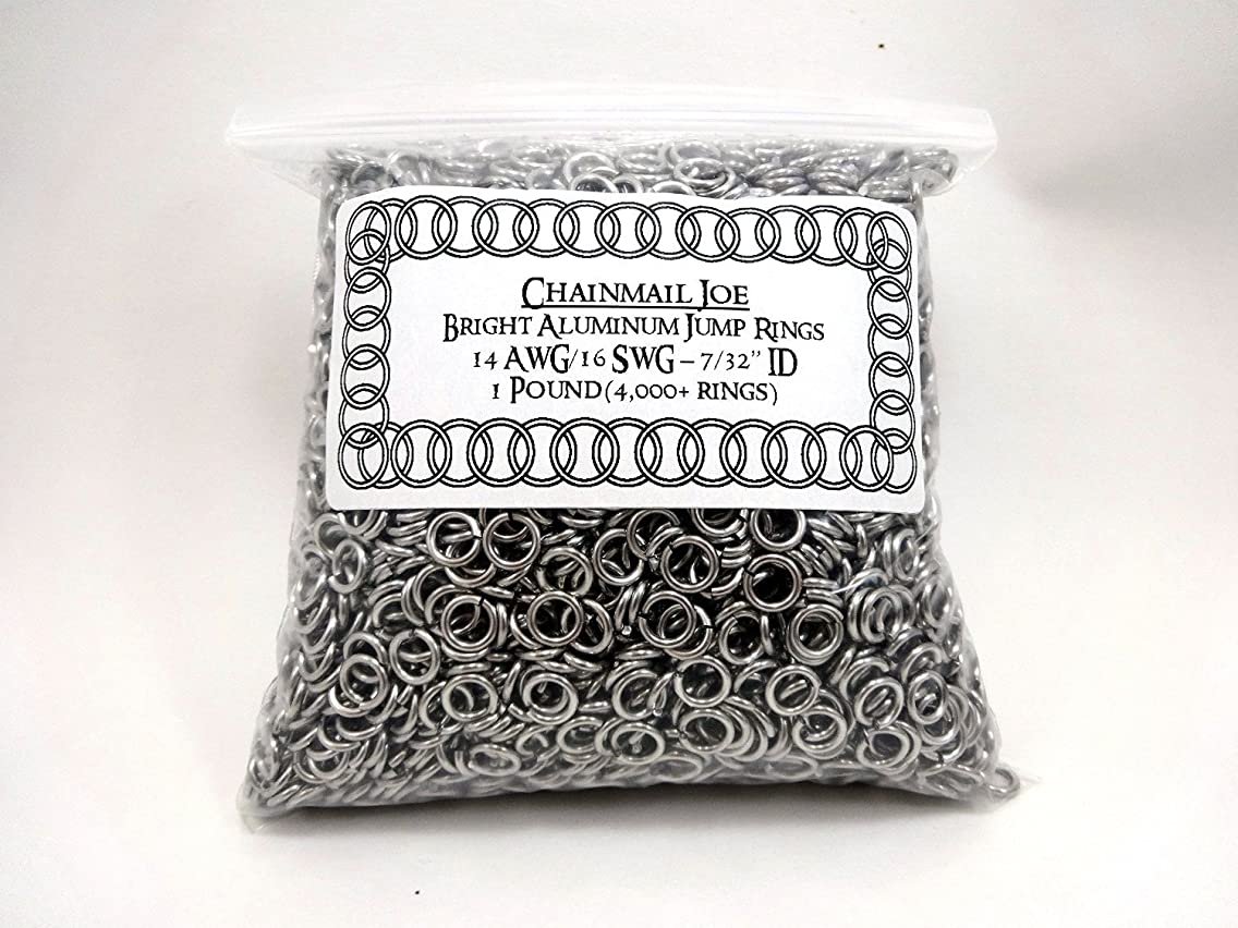 1 Pound Bright Aluminum Chainmail Jump Rings 16G 7/32