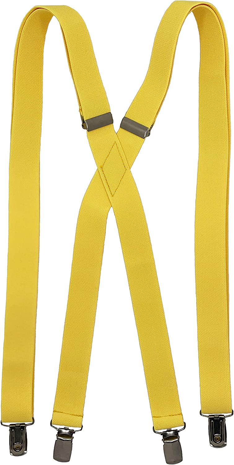 Spencer J's Suspender Canary Yellow