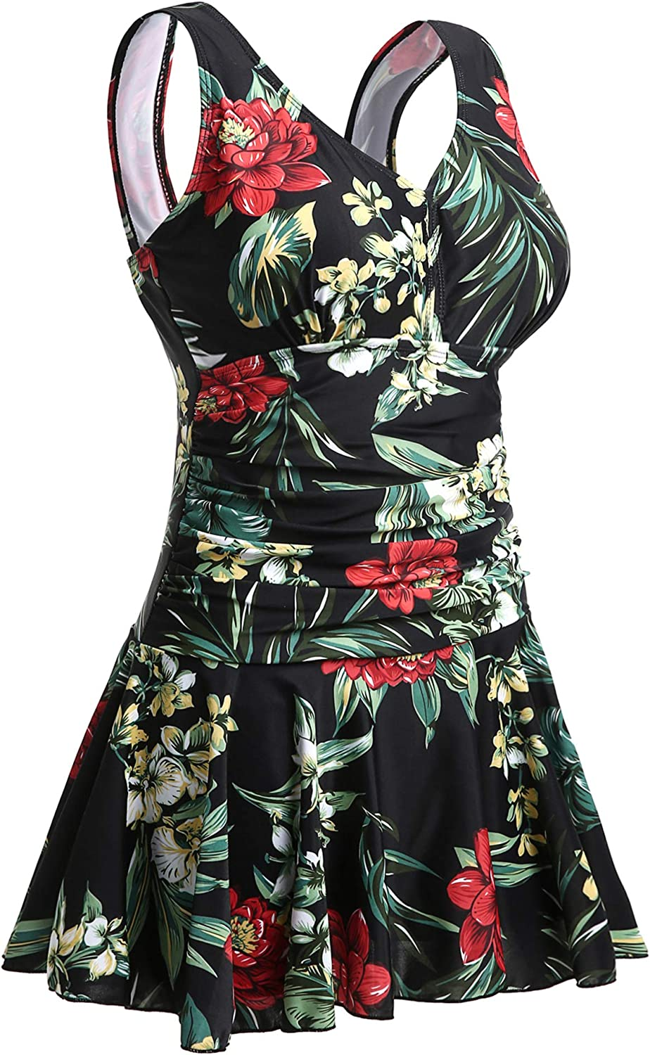 MiYang Women's Plus-Size Flower NEW Printing One Max 87% OFF Body Shaping Piece