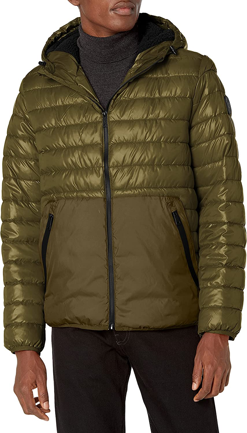 Kenneth Cole New York Men's Quilted Midweight Puffer