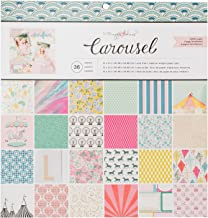 American Crafts Crate Paper 379114 Maggie Holmes Carousel Single Sided Paper Pad, 12