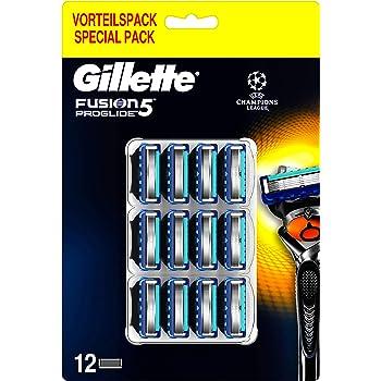 Gillette Fusion5 Proglide Chill Lamette di Ricambio per Rasoio Uomo, Confezione da 12 Lamette