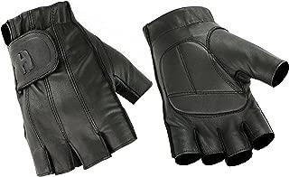 Deer Soft Gel-Padded Palm Fingerless and Full Finger Styles Motorcycle Riding Gloves