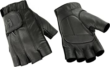 Deer Soft Gel-Padded Palm Fingerless and Full Finger Styles Motorcycle Riding Gloves
