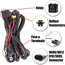 XtremeVision 9006/9012 / H10 / 9005 HID Battery Wiring Relay Harness 12V 40 AMP 35W/55W for HID