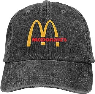 Mochila clásica de moda McDonalds Logo Adjustable Unisex Hat Baseball Caps Black