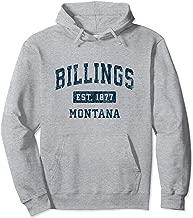 Billings Montana MT Vintage Sports Design Navy Print Pullover Hoodie