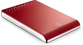 Seagate FreeAgent Go Special Edition 500 GB USB 2.0 Portable External Hard Drive and Docking Station ST905003FPA2E1-RK (Red with Chrome Trim)