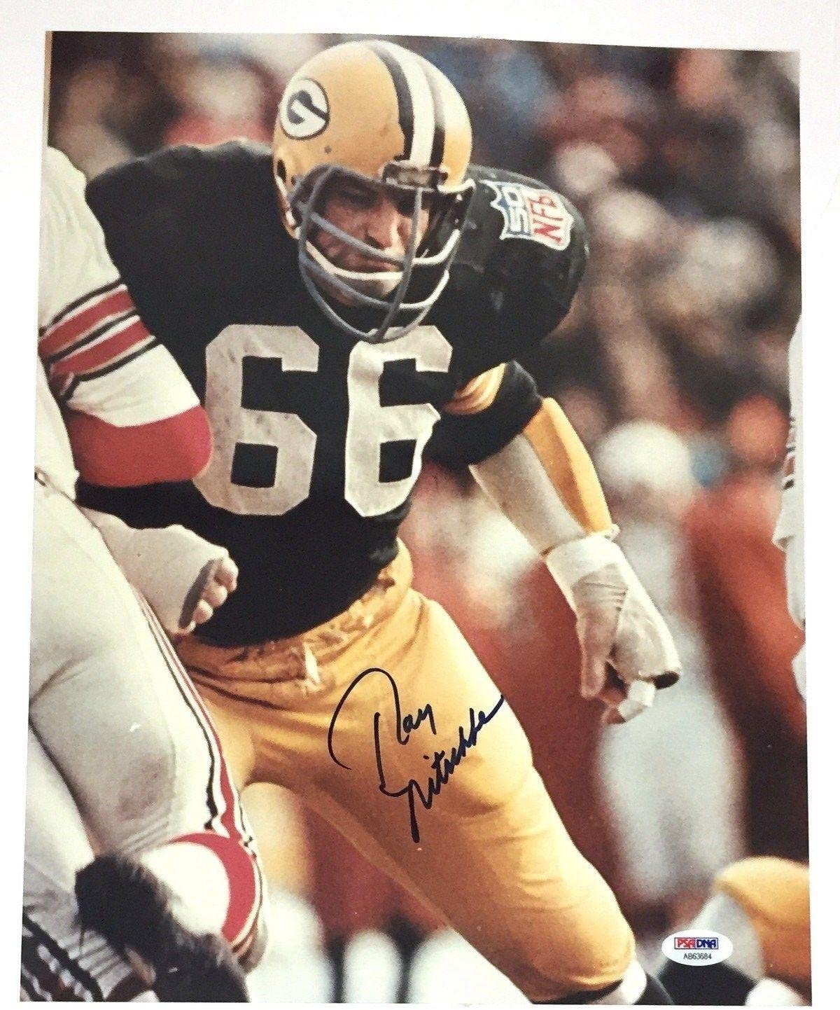 Industry No. 1 El Paso Mall Ray Nitschke Signed Autographed 11X14 Bay PSA Green