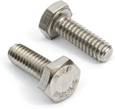"1/4""-20 x 1"" (100pcs) Stainless Steel Hex Bolts 18-8 (304) S/S, Choose Size & Qty - by Bolt Dropper"