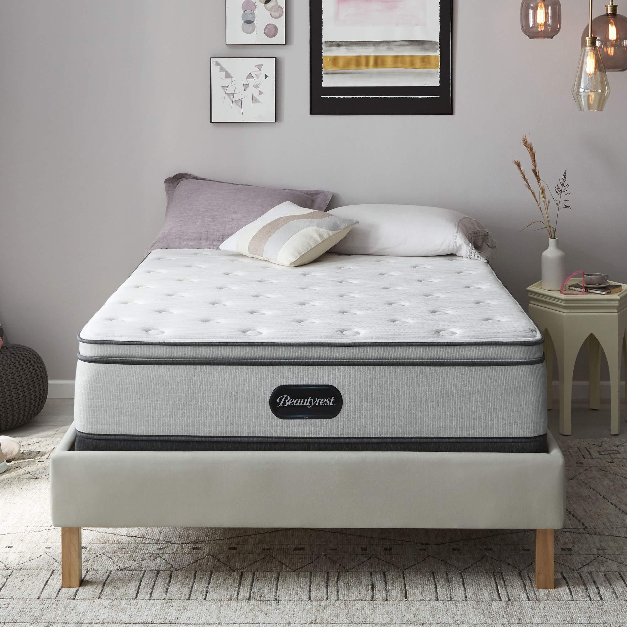 beautyrest br800 13 inch plush pillow top mattress queen mattress only