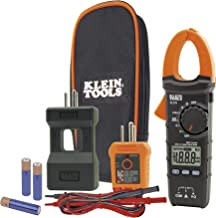 Klein Tools CL110KIT Electrical Maintenance & Test Kit For AC/DC Voltage, Resistance & Continuity, includes Case, Leads & Batteries