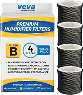 VEVA 4 Pack Premium Humidifier Filters Replacement for Holmes Filter B, HWF64, and Other Sunbeam Bionaire Cool Mist Humidifiers