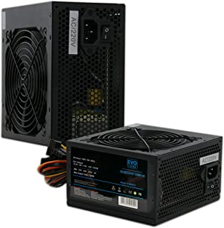 PSU 500W ATX Fuente de Alimentación Conmutada/Ventilador Silencioso de 12 cm Negro/para La Computadora PC/iCHOOSE