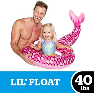 BigMouth Inc Mermaid-in-Training Lil' Water Float - Pool Float for Infants and Kids Ages 1-3, Perfect for Beginner Swimmers, Easy to Inflate and Durable
