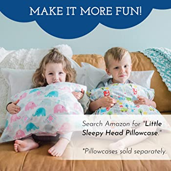 Toddler Pillow - Soft Hypoallergenic - Best Pillows for Kids! Better Neck Support and Sleeping! They Will Take a Bett...