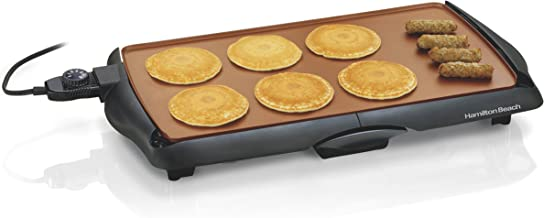 Hamilton Beach 38518R Durathon Ceramic Griddle, 200 sq. in, Black