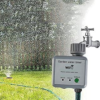 Smart Lawn Sprinkler Controller Smart WiFi Irrigation Controller Outdoor Wireless Irrigation System Timer, Weather Intelli...
