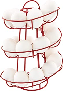 Southern Homewares SH-10242 Red Egg Skelter Deluxe Modern Spiraling Dispenser Rack, one Size