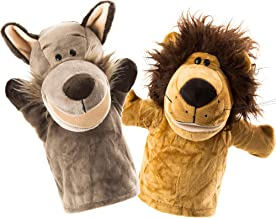 BETTERLINE Animal Hand Puppets Set of 2 Premium Quality, 9.5 Inches Soft Plush Hand Puppets for Kids- Perfect for Storytel...