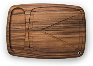 Ironwood Gourmet 28103 Kansas City Carving Board with Juice Channels, 22 x 15 x 2.5 inches, Brown